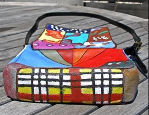 Detail Image for art Happy Patterns (leather handbag purse)