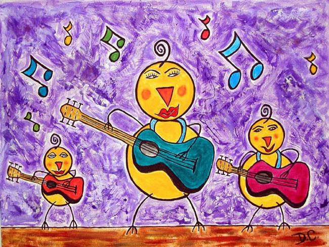 Art: Chicks with Guitars! by Artist Diane G. Casey