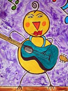 Detail Image for art Chicks with Guitars!