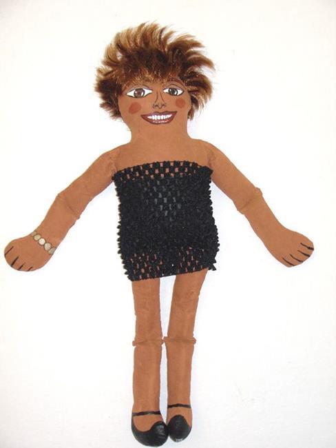 Art: Tina Turner Diva Doll by Artist Diane G. Casey