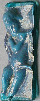 Art: HOPE Cast glass ART Brooch by Artist Deborah Sprague