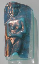 Art: Cast glass goddess by Artist Deborah Sprague
