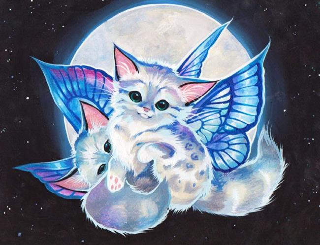 Art: Fairy Moon Kits by Artist Nico Niemi