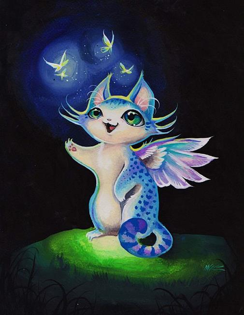 Art: Little Chi Cat by Artist Nico Niemi
