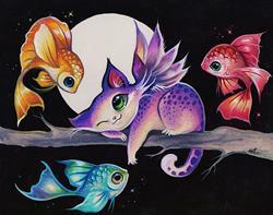 Art: Hello Fairy Fish by Artist Nico Niemi