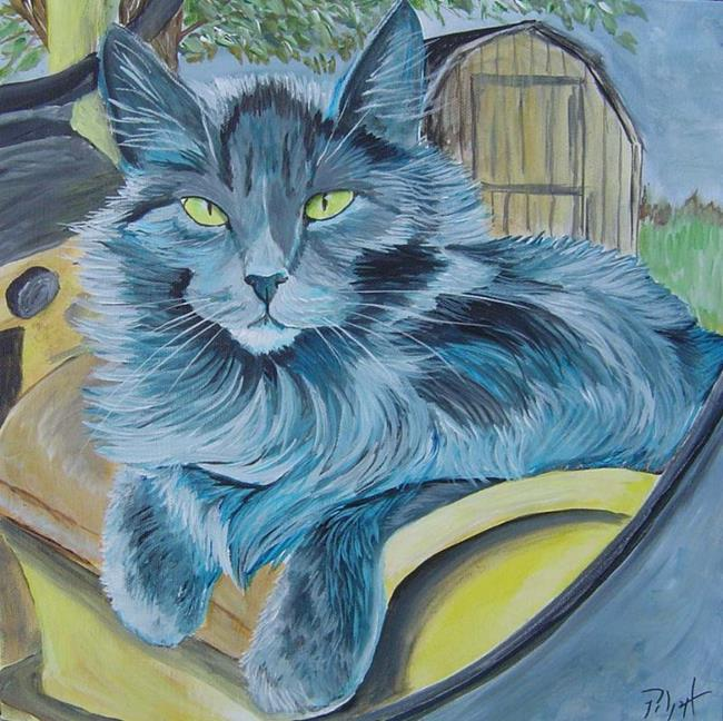 Art: Farm Cat  by Artist Padgett Mason