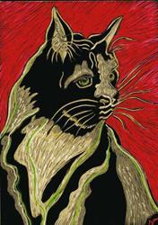 Art: Cat Black & Tan by Artist Naquaiya