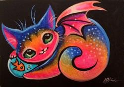 Art: Chi-Kitten and Goldfish by Artist Nico Niemi