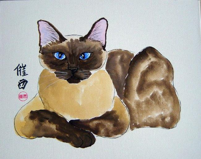 Art: Siamese by Artist Tracey Allyn Greene