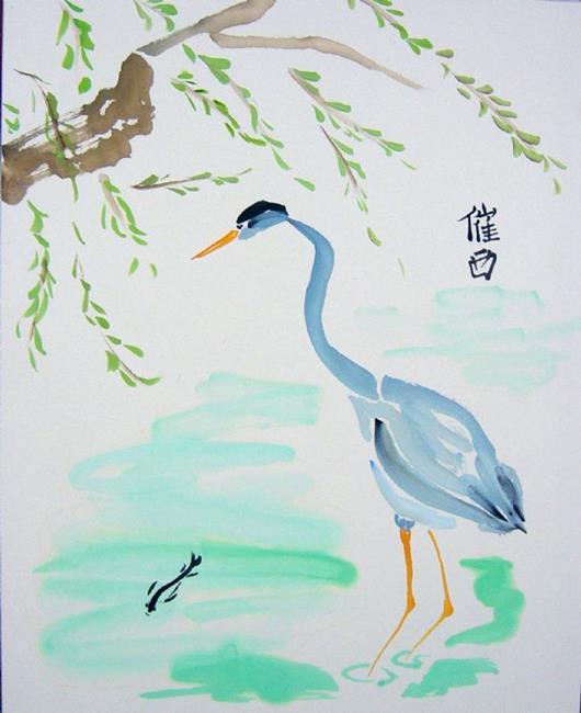 Chinese Brush Paintings Of Herons