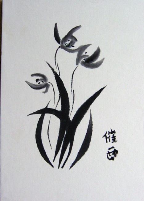 Art: Orchids II by Artist Tracey Allyn Greene