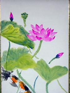 Detail Image for art Lotus and Koi