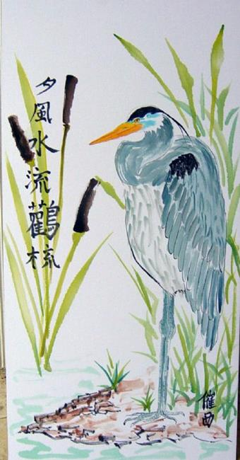 Art: Great Blue Heron by Artist Tracey Allyn Greene