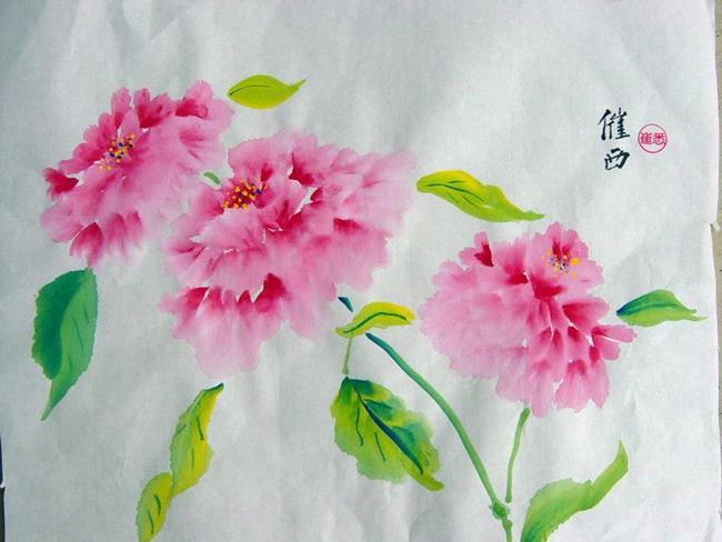 Art: Peonies 3 by Artist Tracey Allyn Greene