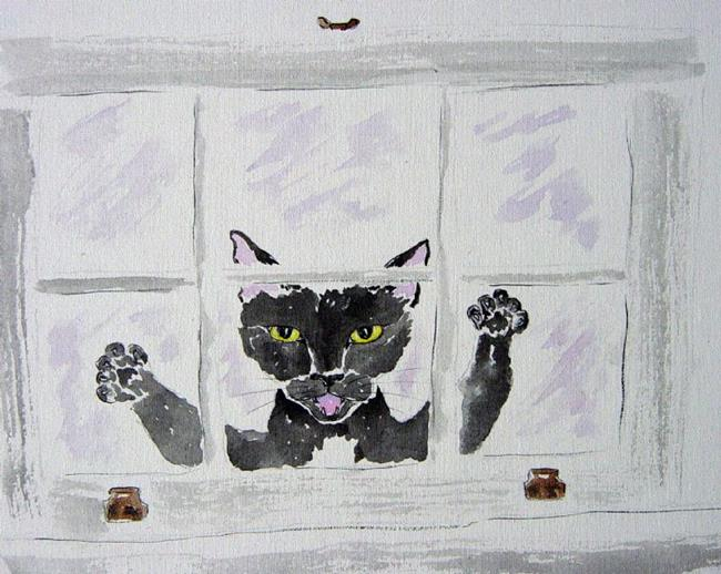 Art: Peeping Tomcat by Artist Tracey Allyn Greene