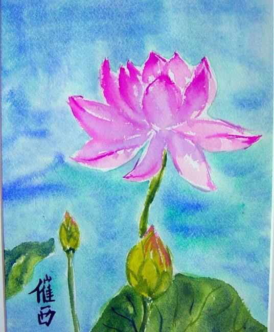 Art: Lotus II  by Artist Tracey Allyn Greene