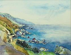 Art: Big Sur Print Sold by Artist victoria kloch
