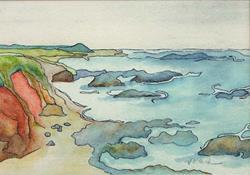 Art: Pescadero Coast  Print Sold by Artist victoria kloch