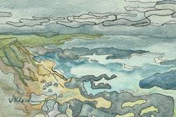 Art: Pescadero Fog Print Sold by Artist victoria kloch
