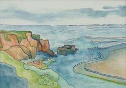 Art: Pescadero Beach  Print Sold by Artist victoria kloch
