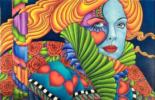 Art: Hearts a Fire (sold) by Artist Shelly Bedsaul