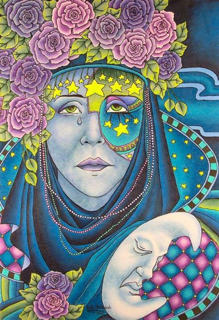Art: Tears for a Waning Moon by Artist Shelly Bedsaul