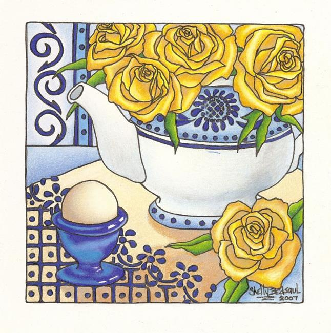 Art: Breakfast at Sunrise(sold) by Artist Shelly Bedsaul