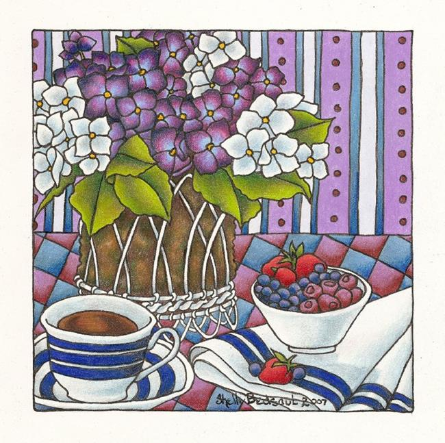 Art: Bowl of Berries by Artist Shelly Bedsaul