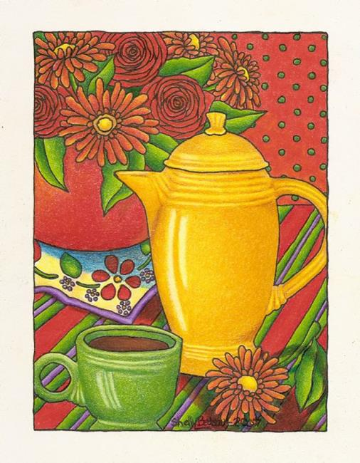 Art: Fiesta con Cafe' (sold) by Artist Shelly Bedsaul