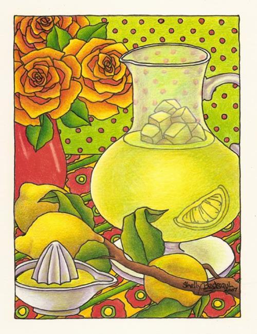 Art: Fresh Lemonade (sold) by Artist Shelly Bedsaul