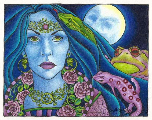 Art: Morgause (sold) by Artist Shelly Bedsaul