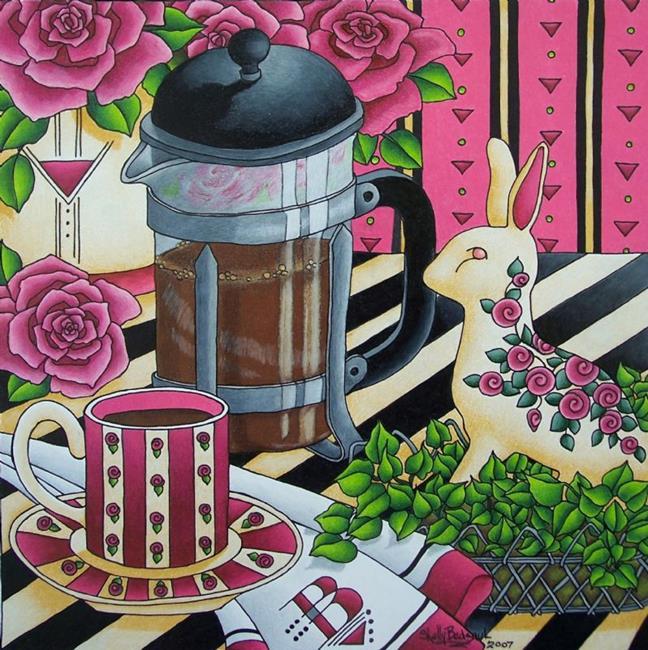Art: French Press by Artist Shelly Bedsaul