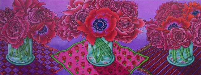 Art: Poppies & Peonies by Artist Shelly Bedsaul