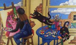 Art: The Artist's Studio by Artist Shelly Bedsaul