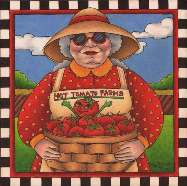 Art: Hot Tomato Farms (sold) by Artist Shelly Bedsaul
