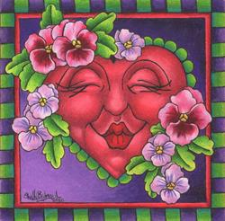 Art: Pansy Smootchie by Artist Shelly Bedsaul