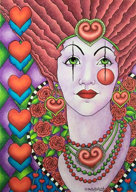 Art: Queen of Hearts by Artist Shelly Bedsaul