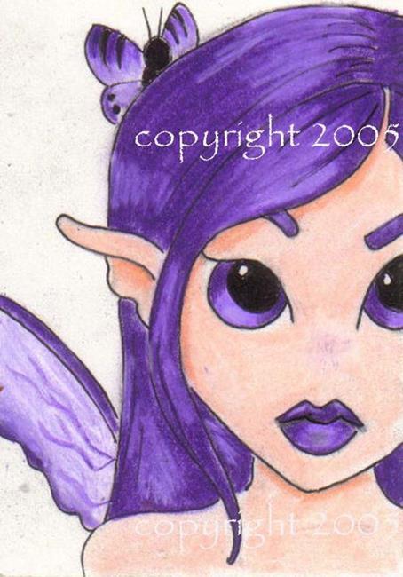 Art: Lil Purple Fae by Artist Ronne P Barton
