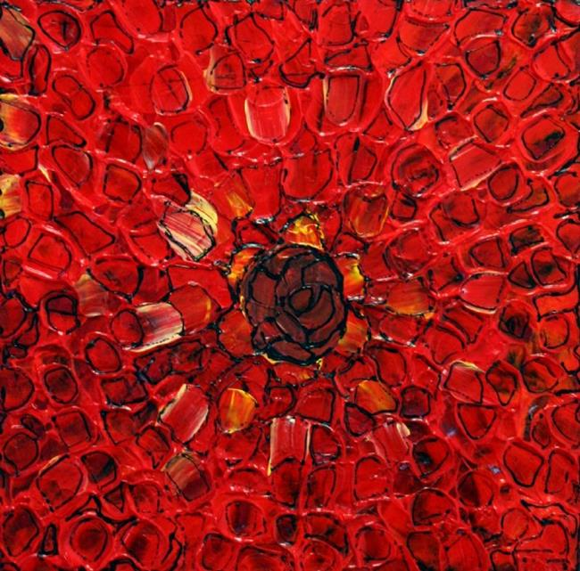 Art: RED GEOMETRY  by Artist LUIZA VIZOLI
