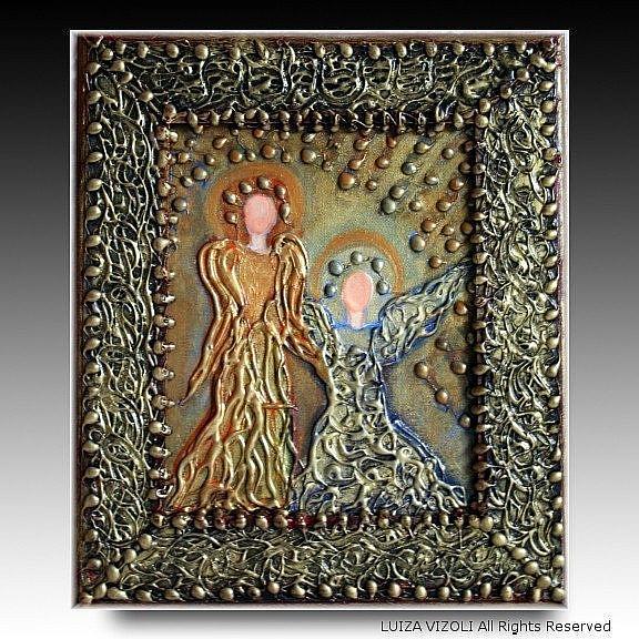 Art: MOTHER and CHILD by Artist LUIZA VIZOLI