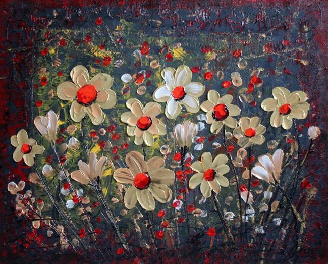 Art: FLOWERS in NIGHT by Artist LUIZA VIZOLI