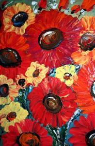 Detail Image for art FRESH RED FLOWERS