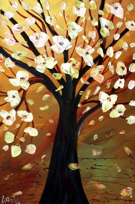Art: MAGNOLIA TREE- OIL PAINTING by Artist LUIZA VIZOLI