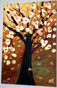 Detail Image for art MAGNOLIA TREE- OIL PAINTING
