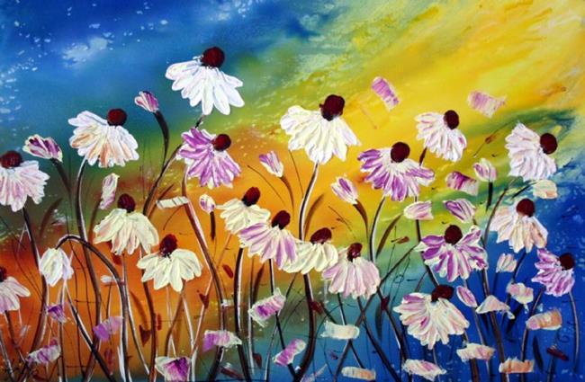 Art: FRESH FLOWERS in the OCEAN BREEZE  by Artist LUIZA VIZOLI