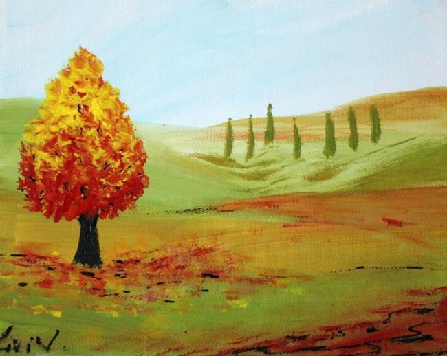Art: FALL TREE by Artist LUIZA VIZOLI