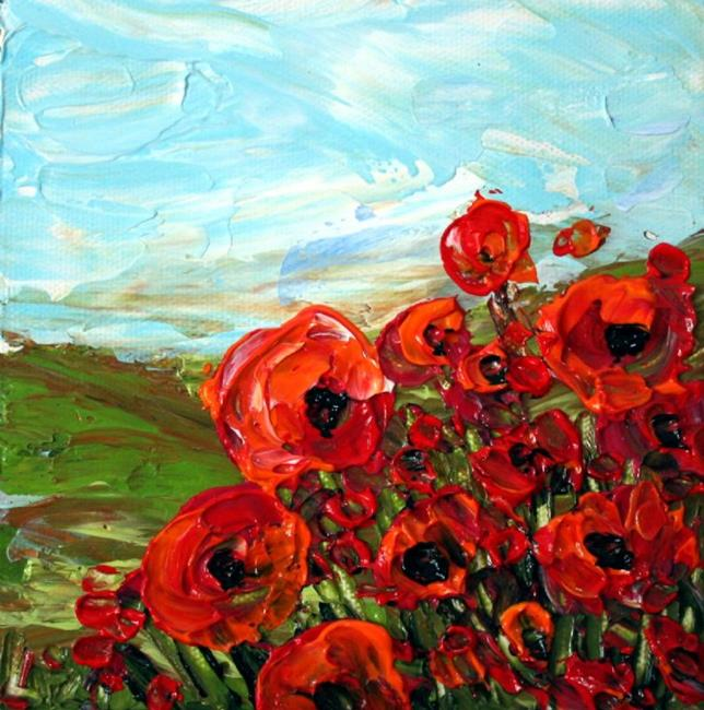 Art: POPPIES FIELD by Artist LUIZA VIZOLI