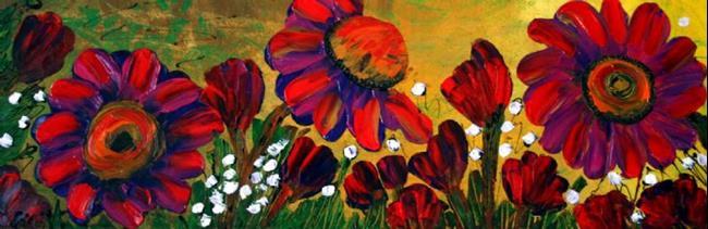 Art: RED GARDEN by Artist LUIZA VIZOLI