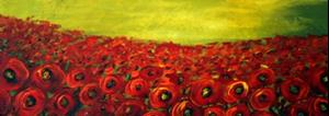 Detail Image for art Red Poppies Field