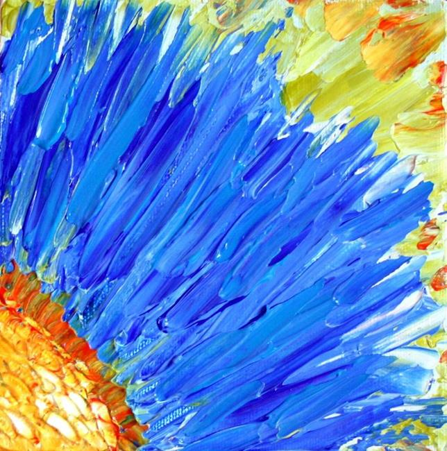 Art: MAGIC BLUE FLOWER by Artist LUIZA VIZOLI
